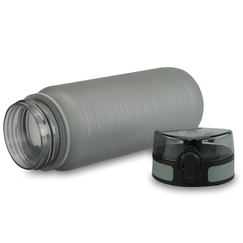 smardy tritan trinkflasche grau 650ml aus bpa freiem. Black Bedroom Furniture Sets. Home Design Ideas